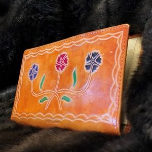 Hand Tooled Vintage Leather Wallet